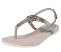 Sandale 'Metallic' silber