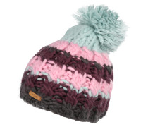 Beanie 'Feather' türkis / pink / bordeaux