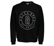 Sweatshirt Print schwarz