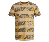 Blockprint T-Shirt goldgelb