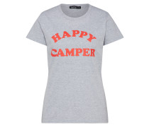 T-Shirt 'happy Camper Festival' grau