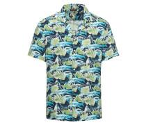 Hemd 'bowling Shirt' navy / grün