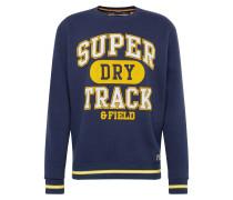 Sweatshirt navy / gelb