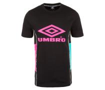 T-Shirt türkis / neonpink / schwarz