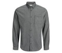 Hemd 'Symbol' grau / schwarz