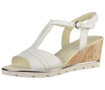 Sandalen silber / naturweiß
