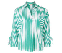 Blusenshirt grün / weiß