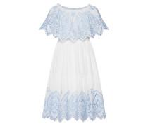 Kleid 'Layla' hellblau / weiß