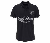Poloshirt schwarz / perlweiß