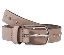 Gürtel 'Stud belt' taupe