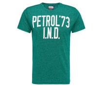 T-Shirt grasgrün / weiß