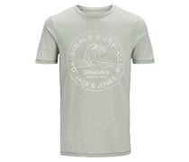 T-Shirt graphit / weiß