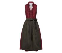 Kleid grün / bordeaux