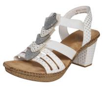 Sandalette 'Arrow' silbergrau / weiß
