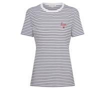 T-shirt 'Lida Bisou' navy / weiß