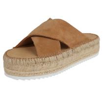 Sandale 'Croisette' hellbraun