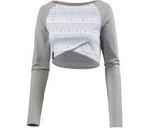 Layerlangarmshirt grau / weiß