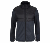 'Performance' Strickfleecejacke schwarz