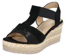 Sandale schwarz / sand