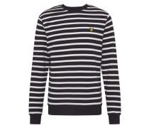 Sweatshirt 'Breton' weiß / schwarz