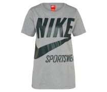 T-Shirt 'brs' grau / schwarz