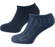 Sneakersocken blau / nachtblau