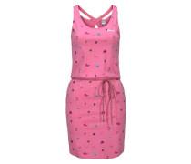 Jerseykleid türkis / pink / schwarz