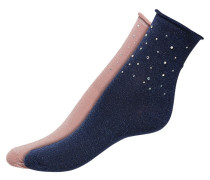 Socken nachtblau / rosa