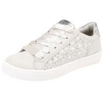 Sneakers mit Perlenverzierung hellgrau