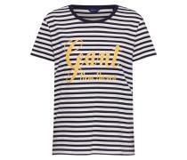 Shirt dunkelblau / gelb / weiß