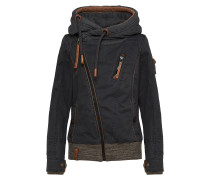 Outdoorjacke 'Walk the Line' anthrazit