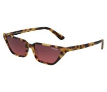 Sonnenbrille braun / pink
