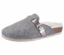 Pantoffel graumeliert