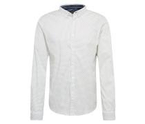 Hemd nachtblau / weiß