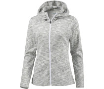 Outerspaced Sweatjacke Damen graumeliert