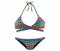 Triangel-Bikini blau / grün / lila
