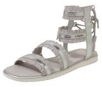 Sandalette im Römer-Look silbergrau