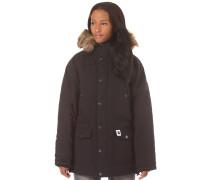 'Trapper' Mantel schwarz
