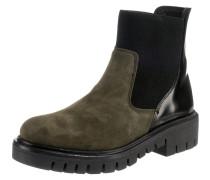 Chelsea Boots oliv / schwarz