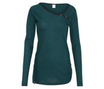 Shirt 'Stripy Asym' grün / schwarz