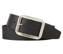 Ledergürtel schwarz / silber