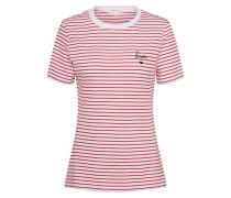 T-shirt 'Lida Bisou' rot / weiß