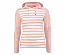 Kapuzenshirt rosa / weiß