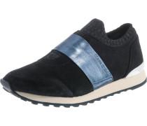 Slip On-Sneaker rauchblau / schwarz