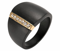 Fingerring gold / schwarz