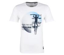 T-Shirt navy / hellblau / weiß