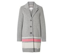 Mantel graumeliert / pink / weiß
