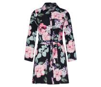 Blusenkleid mischfarben / rosa / schwarz