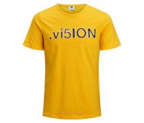 T-Shirt goldgelb / schwarz / weiß