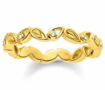 Diamantring 'Blüten' gold
